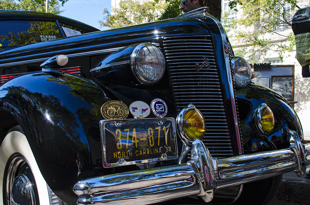 A black 1937 Buick Special at Riverfest in Wilmington North Carolina