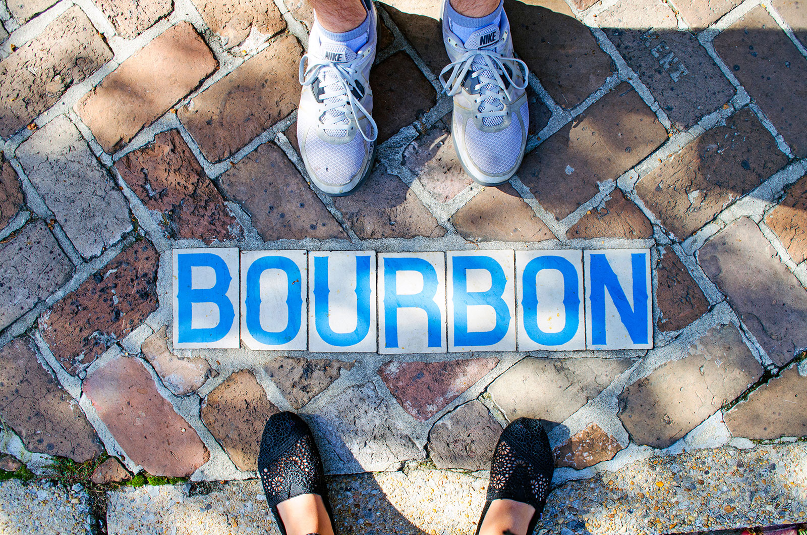 The street sign on Bourbon Street in the French Quarter of New Orleans Louisiana where we stayed during our gap year