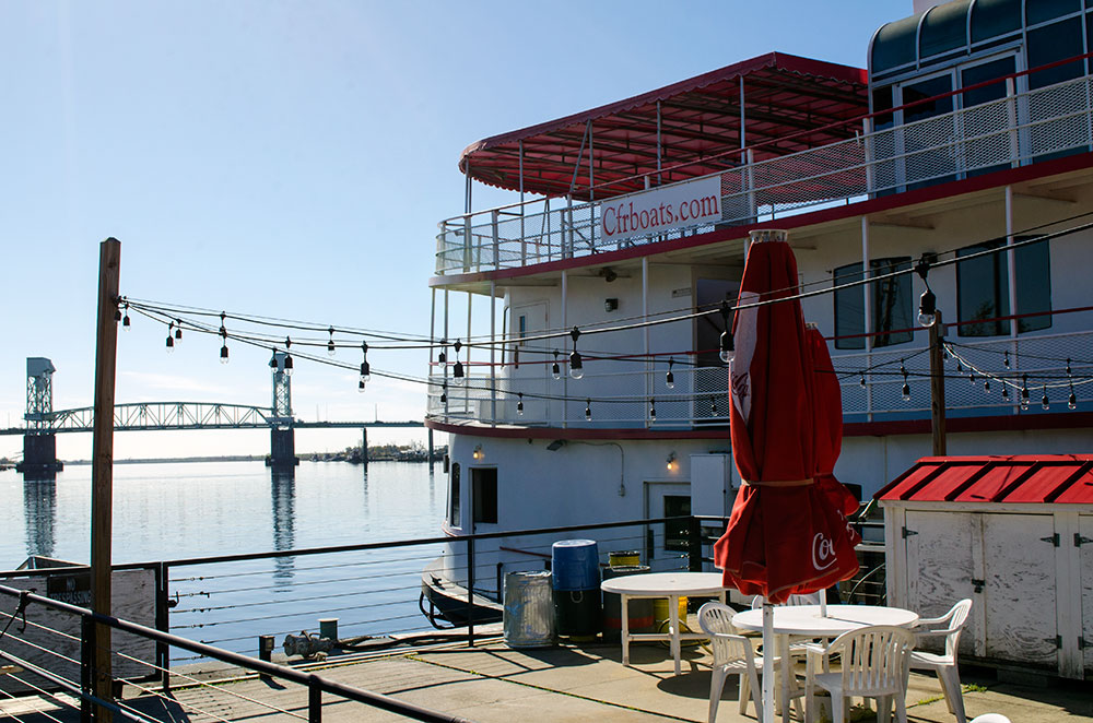 Cape Fear Riverboat docked in Wilmington North Carolina