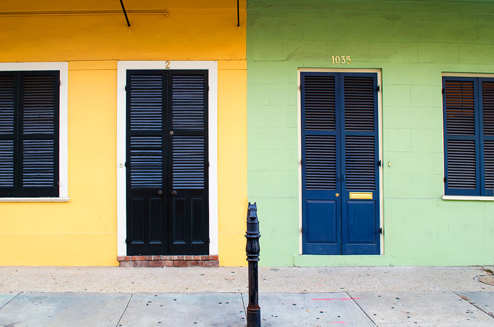 Green and Yellow House in New Orleans Louisiana