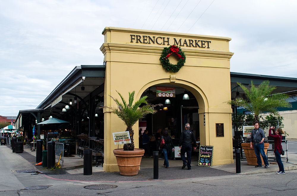 French Market in the French Quarter of New Orleans Louisiana