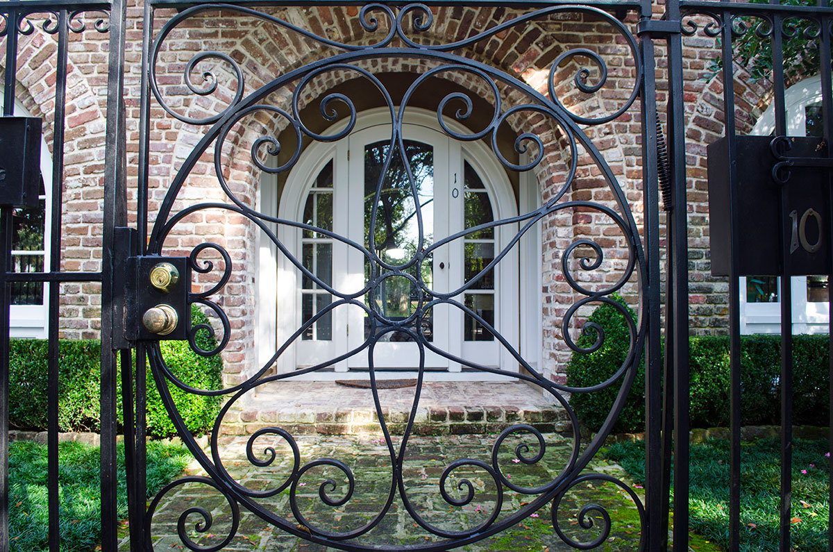 Gate to a home at the Battery in Charleston South Carolina
