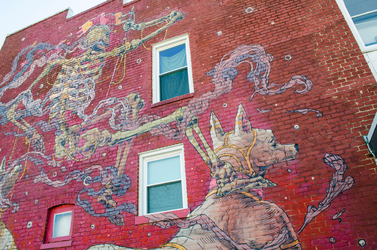 Graffiti on another building in Carytown Virginia