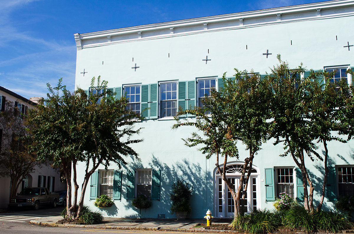 Green building located at 83 East Bay Street Charleston South Carolina