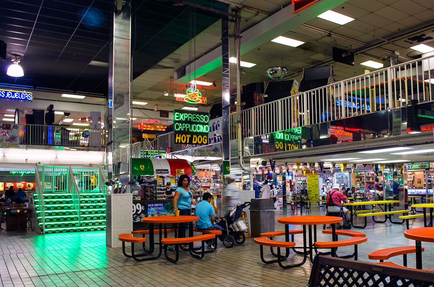 Indoor seating area at the Swap Shop in Ft. Lauderdale Florida