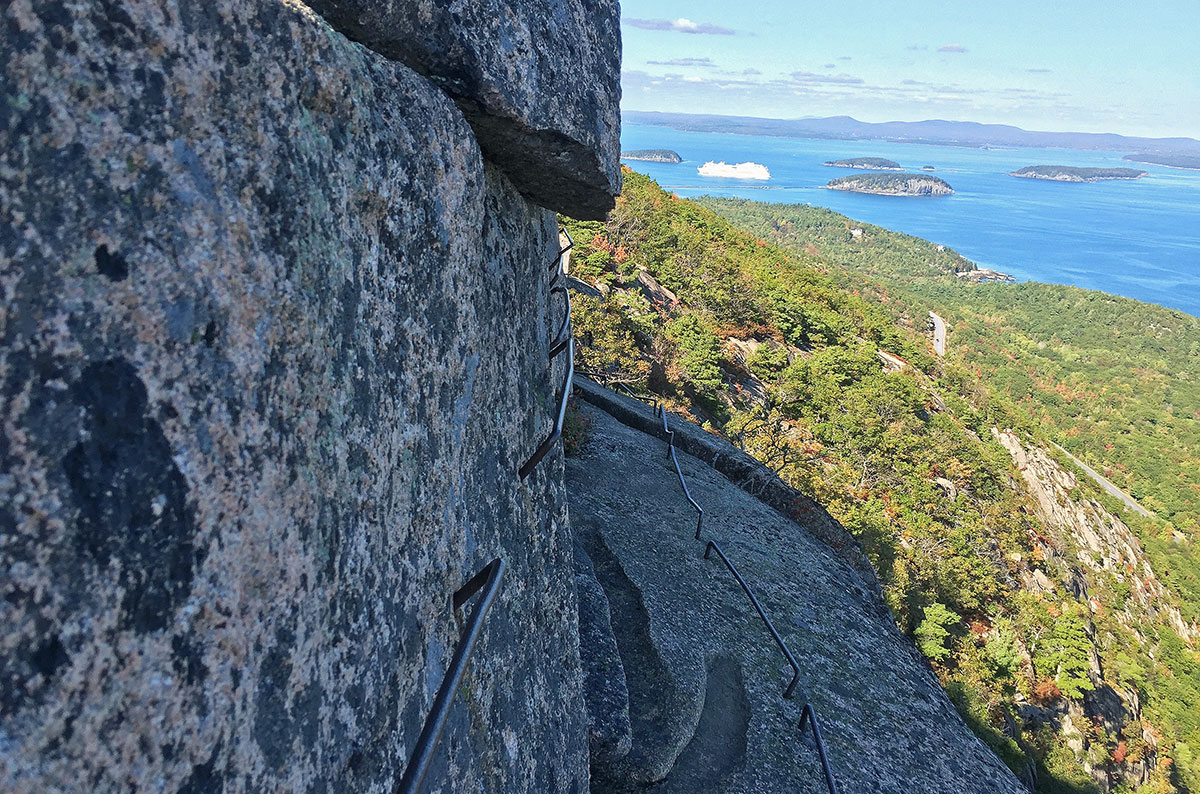 Ocean view from Precipice Trail in Acadia National Park Maine