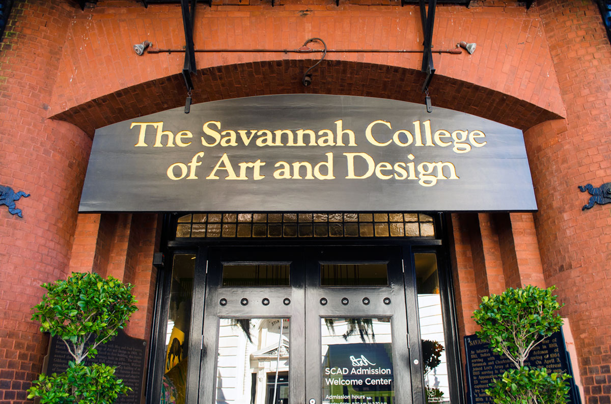 Outside the Savannah College of Art and Design (SCAD) Admission Center Georgia