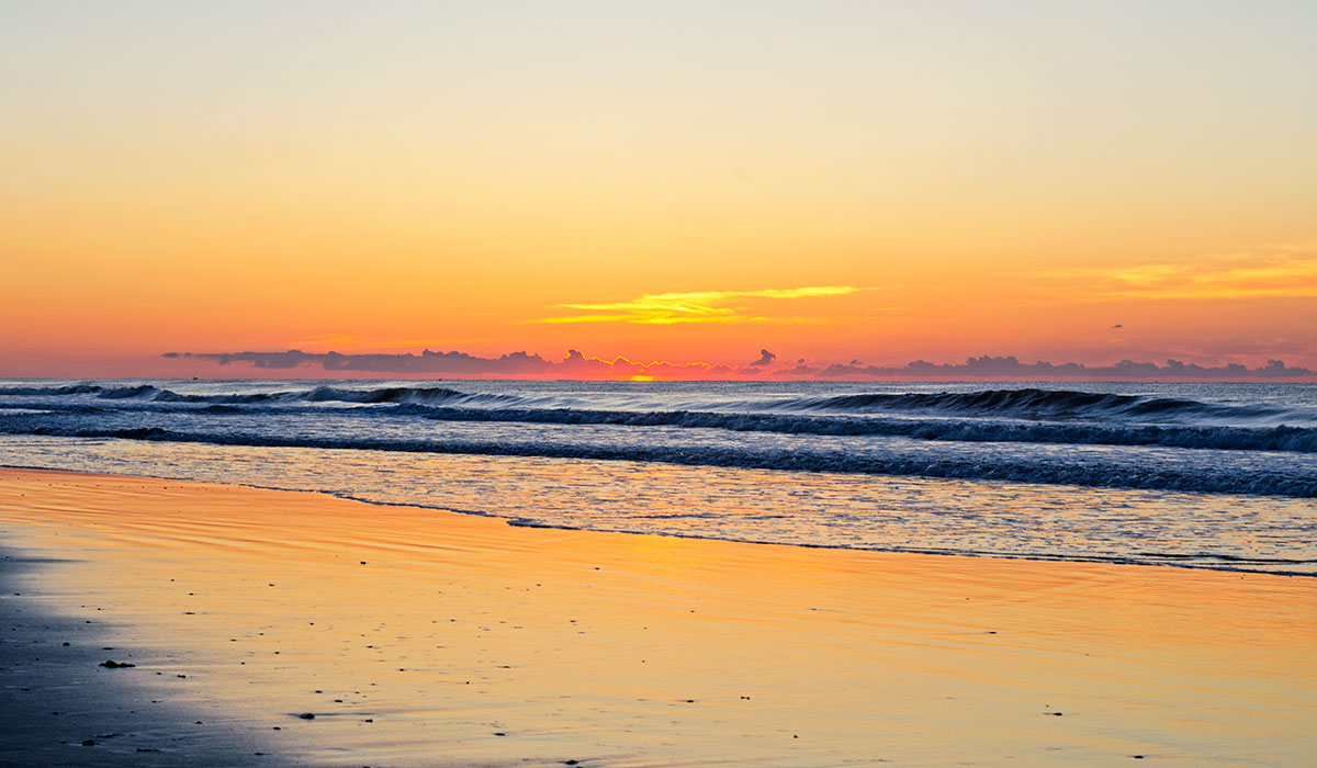 Sunrise at the beach in Sea Isle City New Jersey
