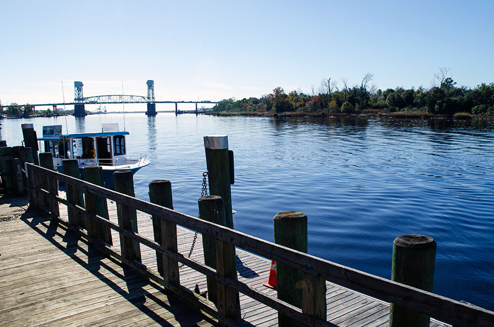 The waterfront in Wilmington North Carolina