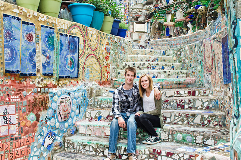 Brad and Leslie at the Magic Garden in Philadelphia Pennsylvania