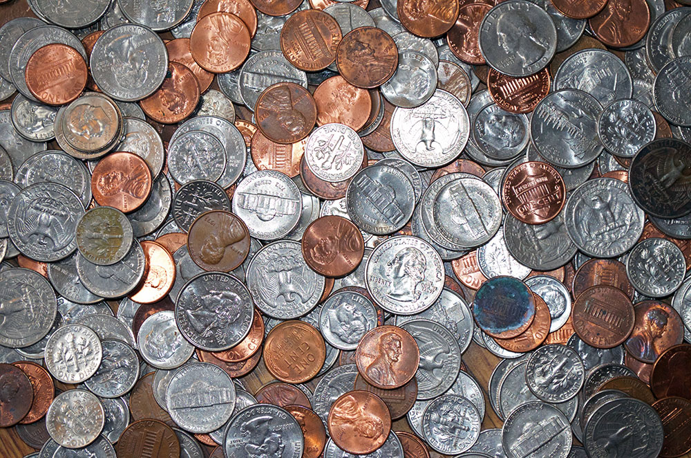 keep coins to save a travel fund