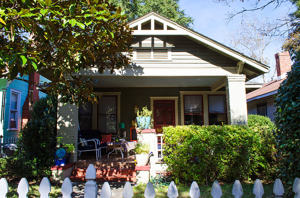 The house we stayed at for our Wilmington North Carolina Couchsurfing experience