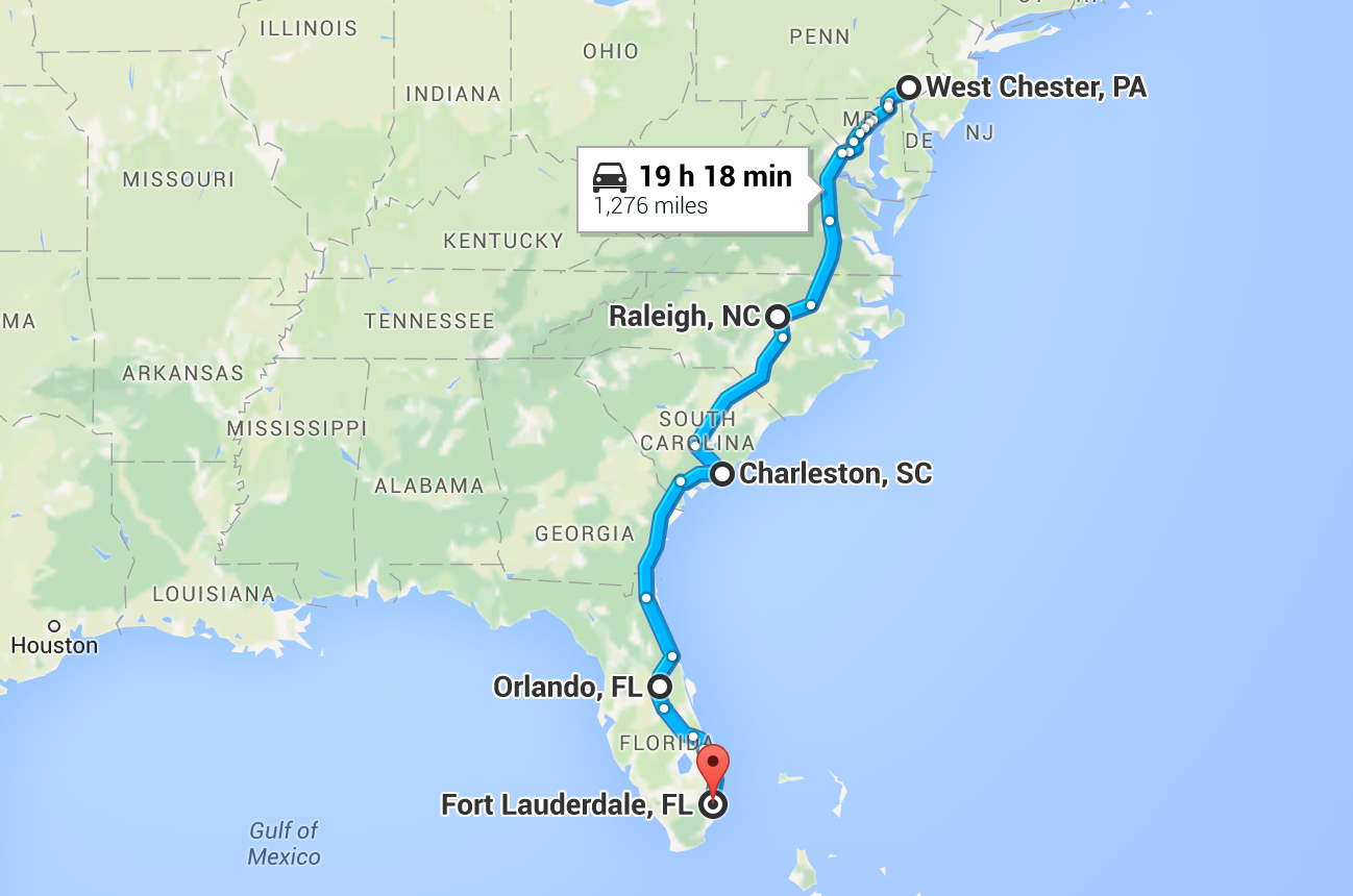 During part 1 of our East Coast Road Trip to Ft. Lauderdale, we stopped in Raleigh, Charleston, and Orlando