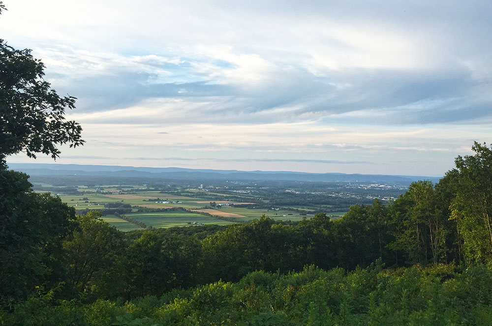 The view from Jo Hays vista near State College Pennsylvania