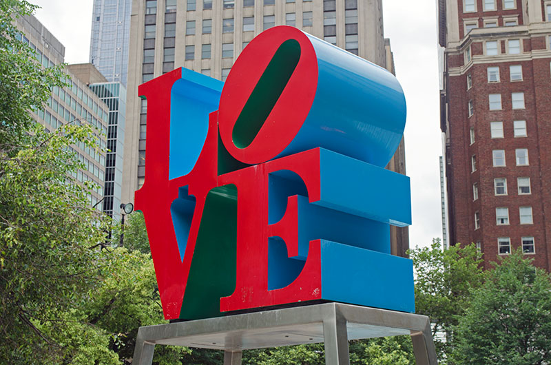 The Love sculpture in Philadelphia Pennsylvania