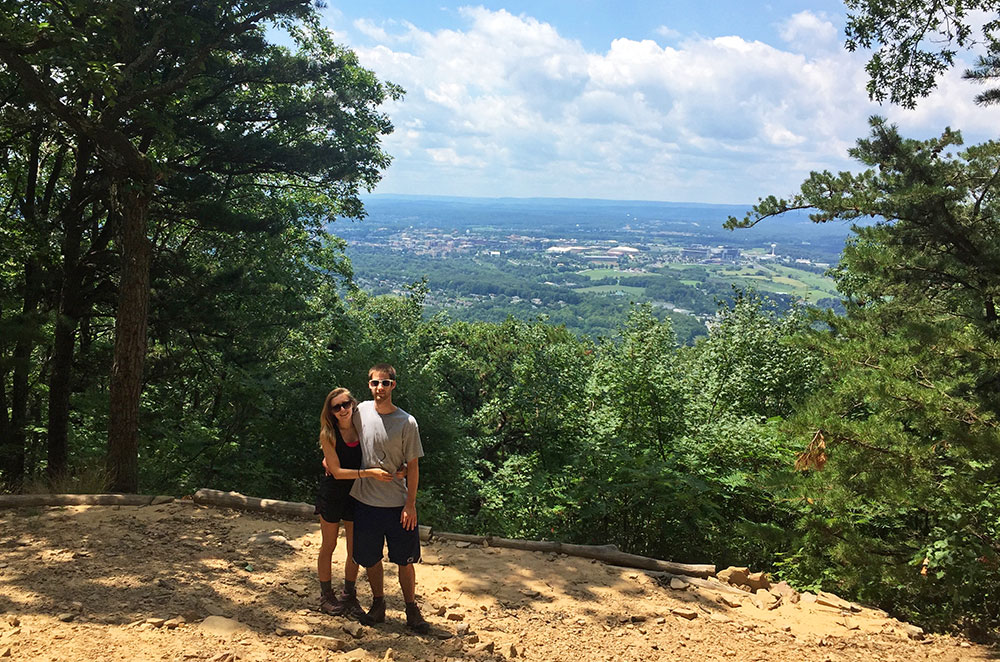 The Mike Lynch Overlook on Mount Nittany in State College Pennsylvania