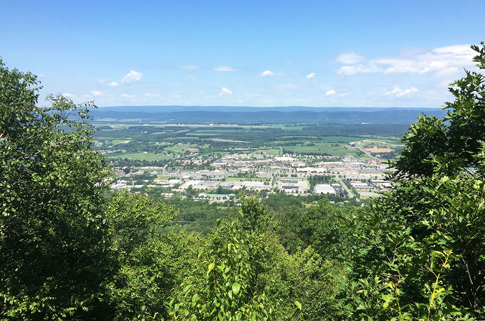 The Nittany Mall Overlook on Mount Nittany in State College Pennsylvania