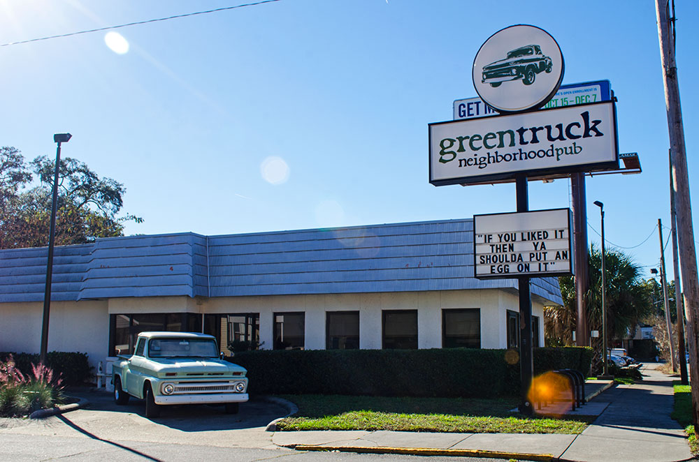 The Green Truck Pub in the Starland District of Savannah Georgia