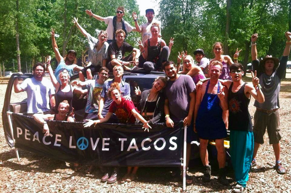 The Peace Love Tacos Food Truck crew, where Kellie Mogg volunteered and worked during her Gap Year Experience