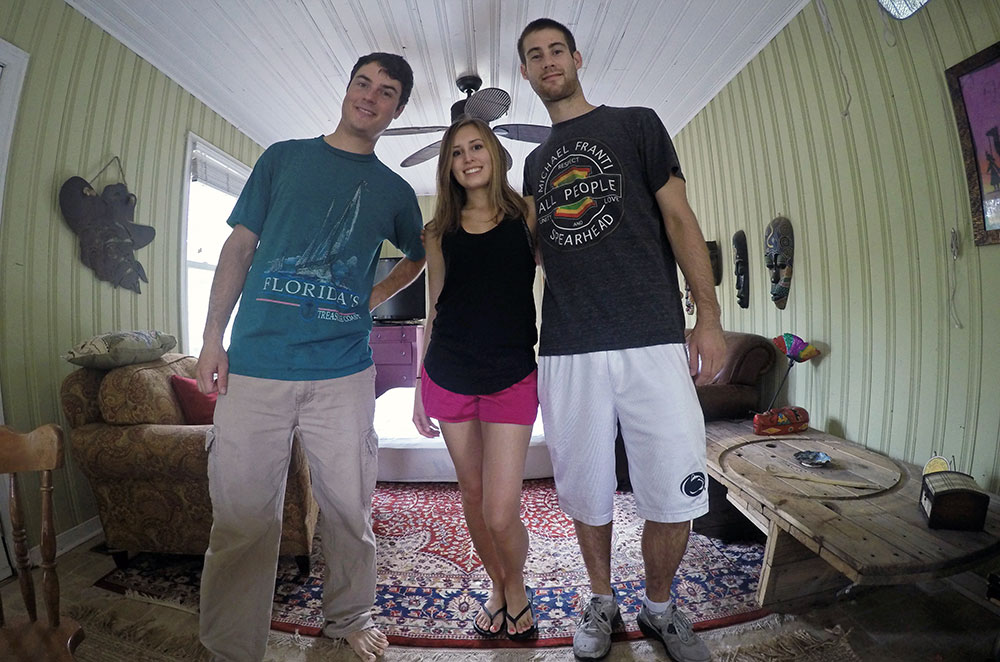 A picture of us with our Couchsurfing host in Charleston South Carolina