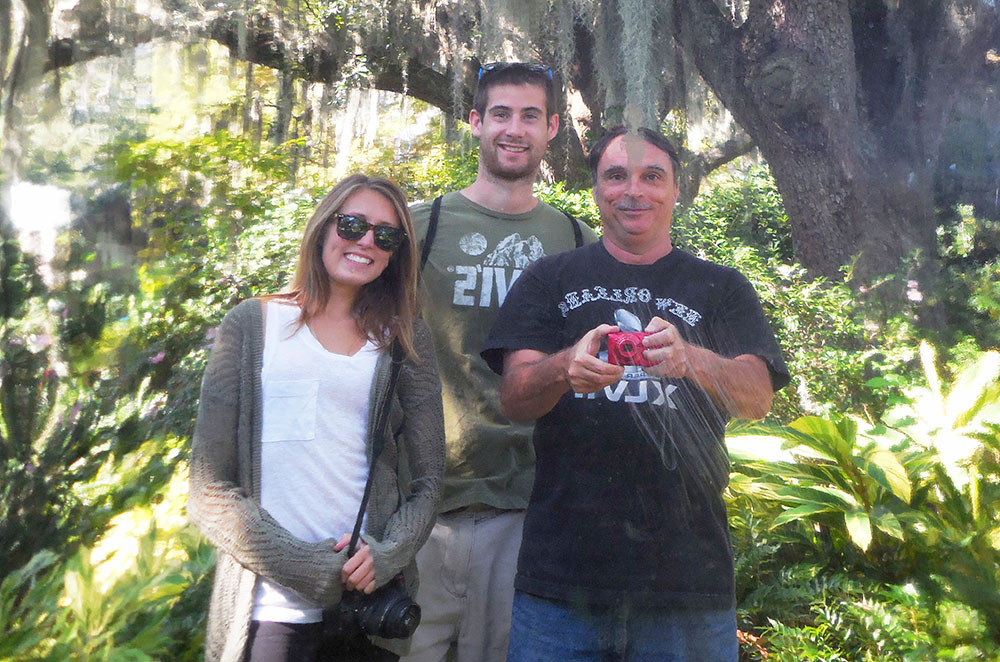 Taking a picture with our New Orleans couchsurfing host