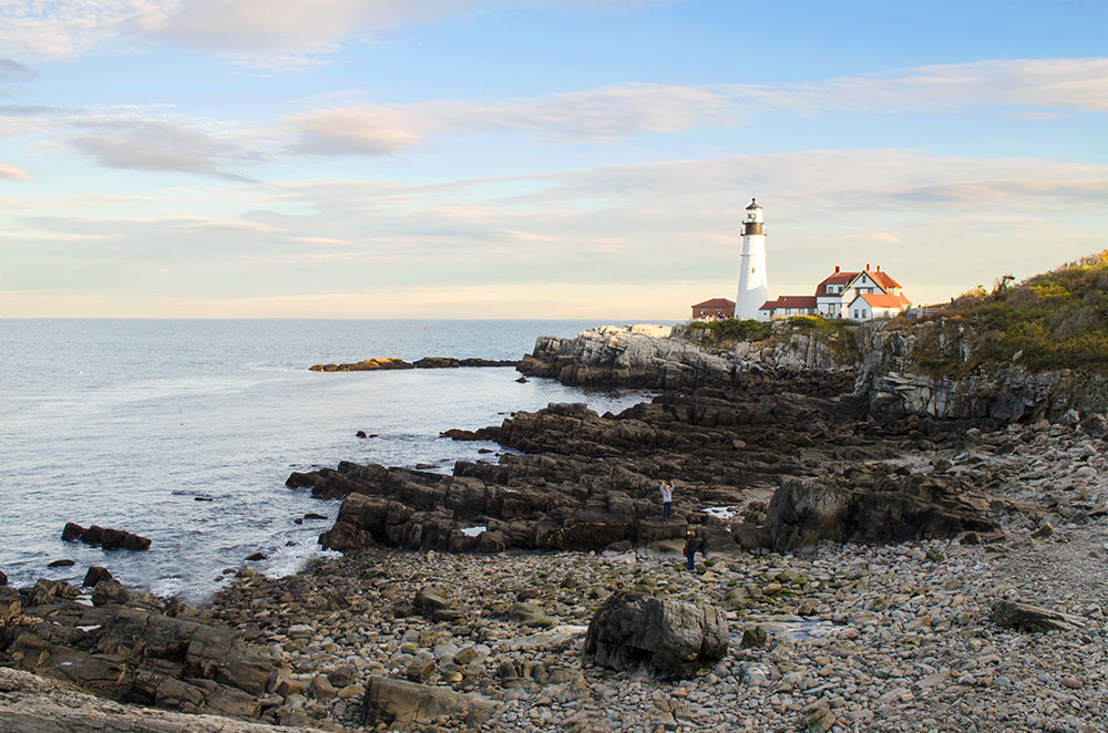 A view of the Portland Head Light from Fort Williams Park