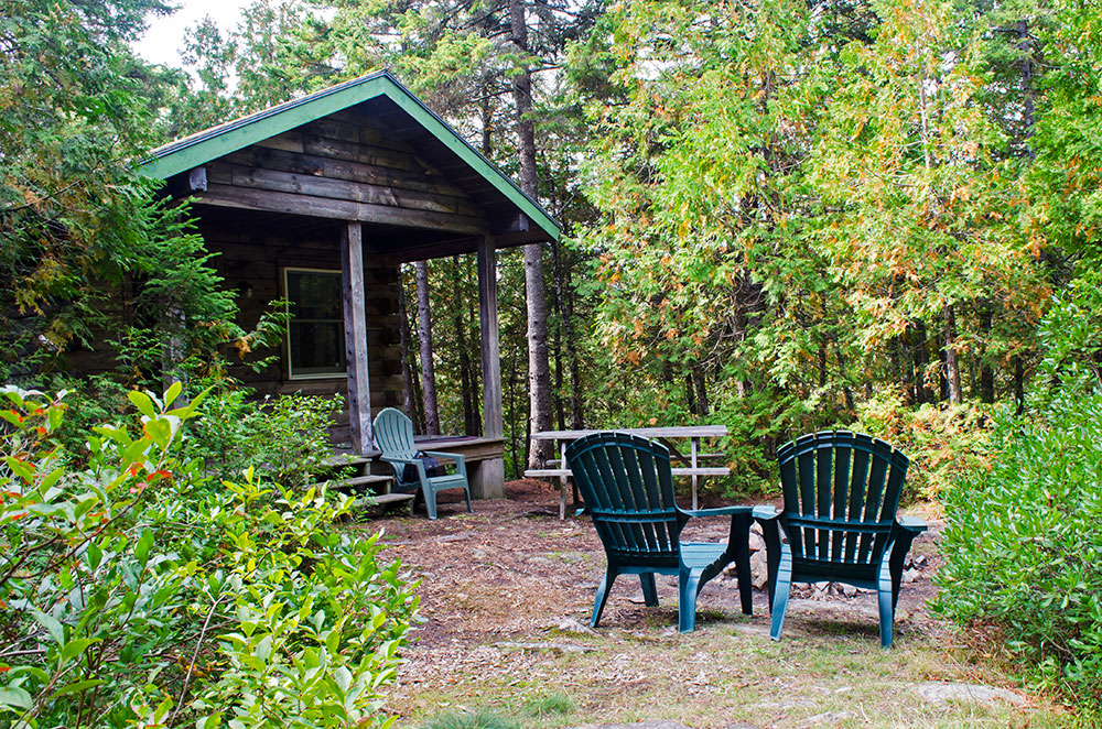 A cabin we rented at the Quietside Campground in Maine