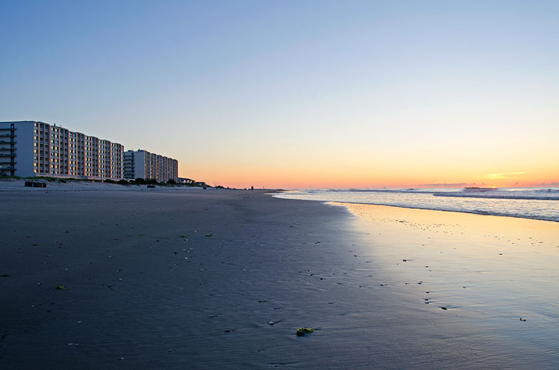 The sunrise from the beach in Sea Isle City New Jersey
