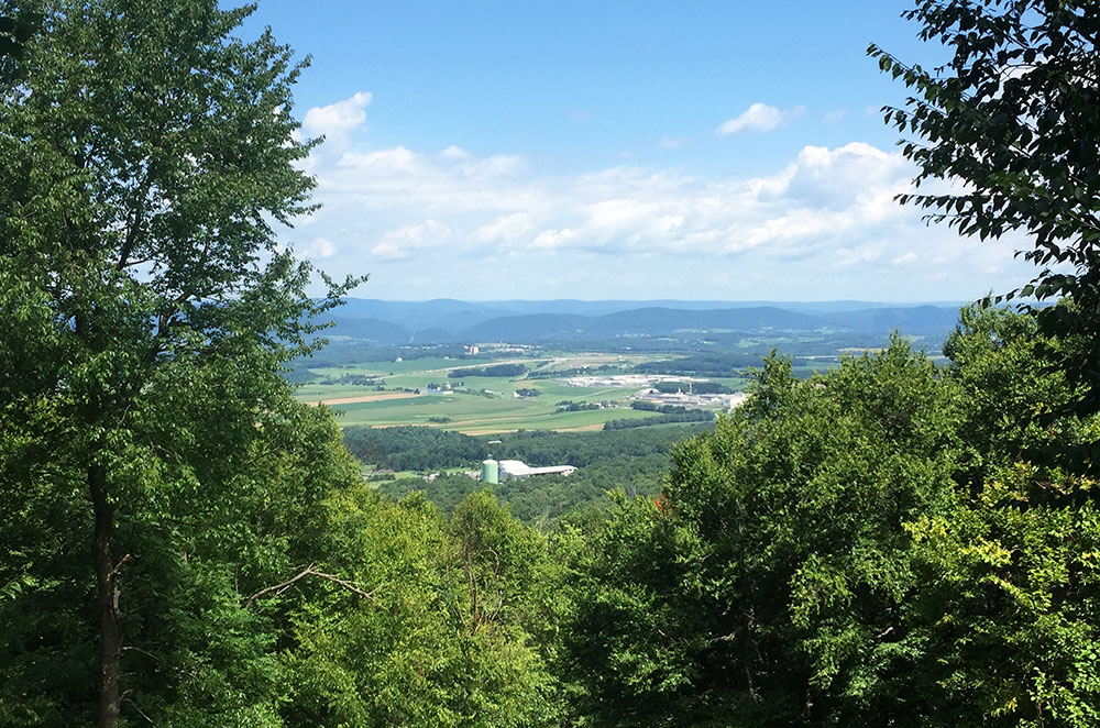 The Tom Smyth Overlook from Mount Nittany in State College Pennsylvania