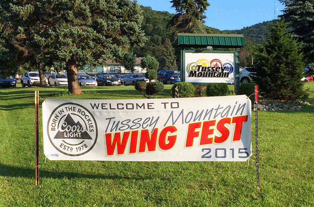 The sign for Tussey Mountain Wing Fest 2015