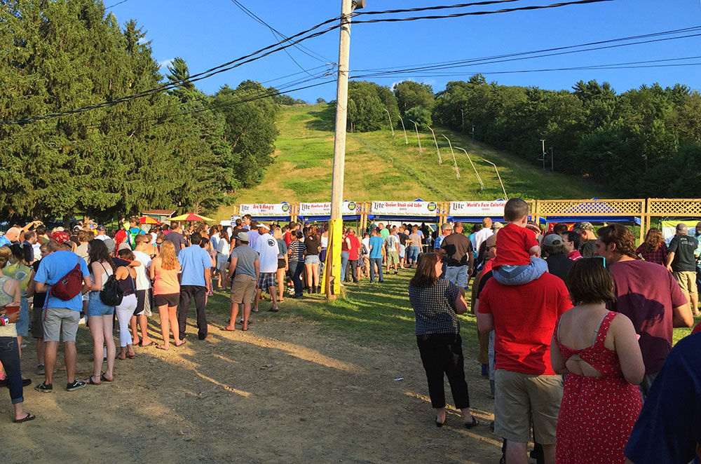 People waiting in line at Tussey Mountain Wing Fest 2015