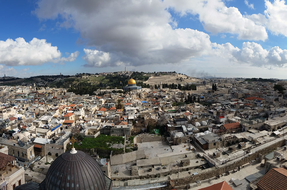 The View of Jerusalem from Lutheran Church of the Redeemer during Kivunim