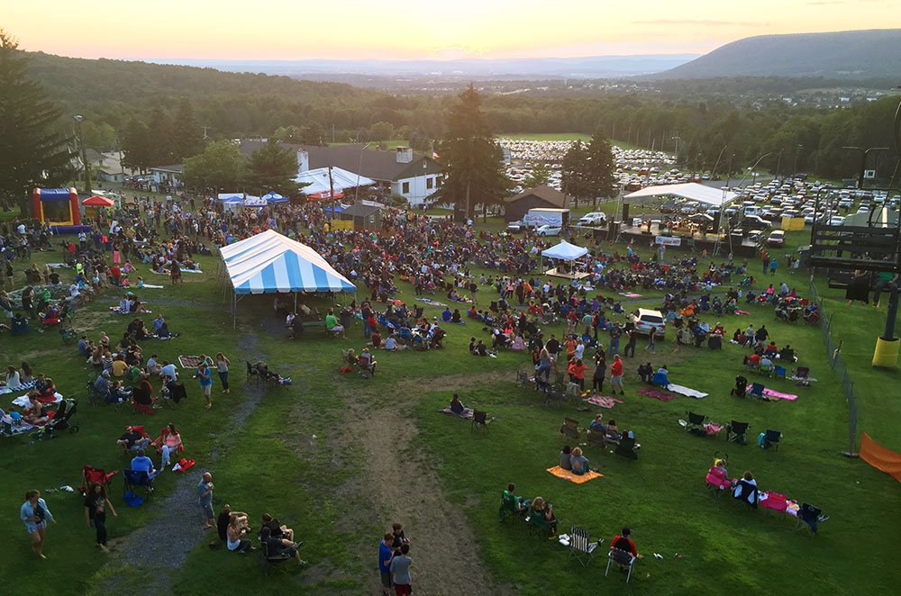 The view of Tussey Mountain Wing Fest 2015