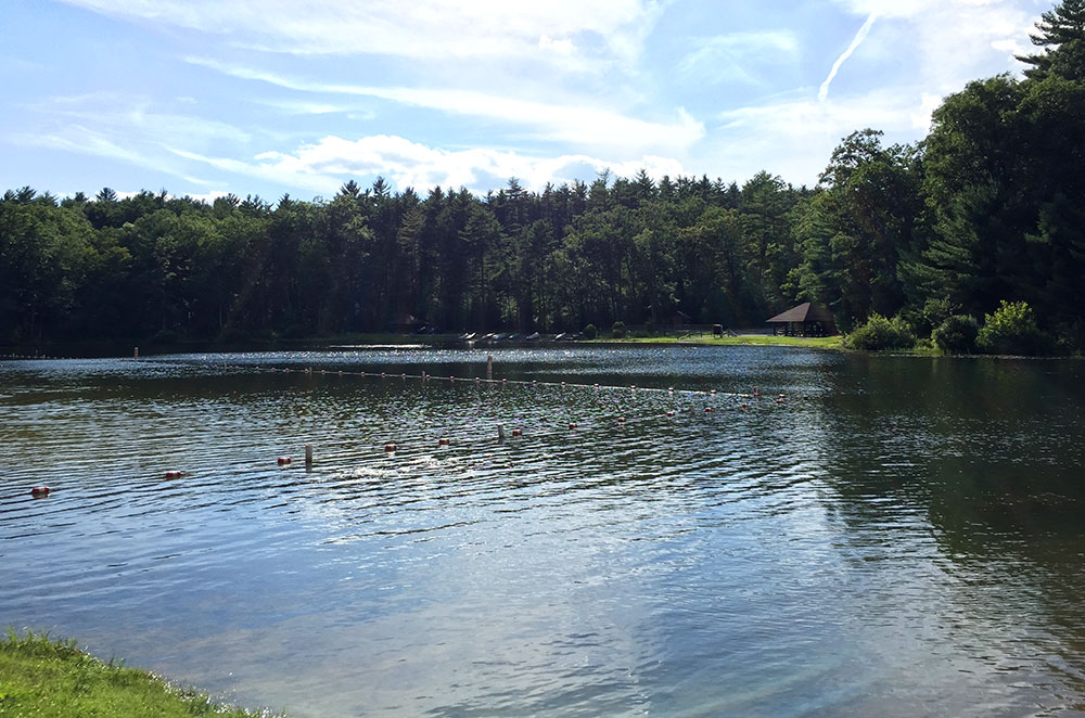 The lake at Whipple Dam State Park near State College Pennsylvania