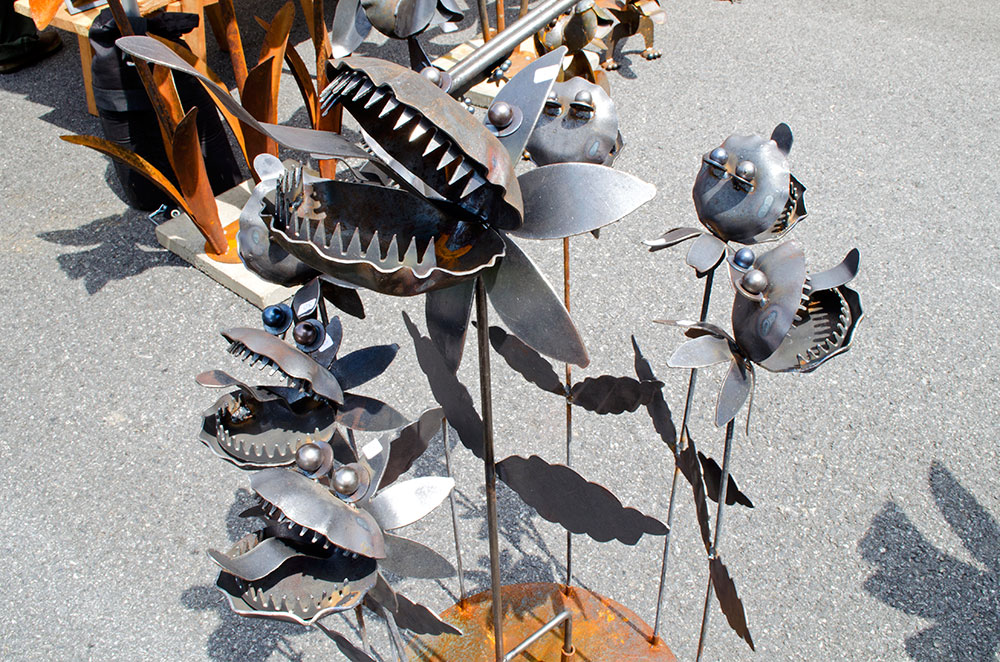 William Colburn's sculptures at the Central Pennsylvania Arts Festival