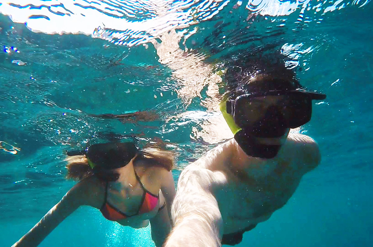 Snorkeling with Thalassa Tours semi-private day trip in the Phi Phi Islands
