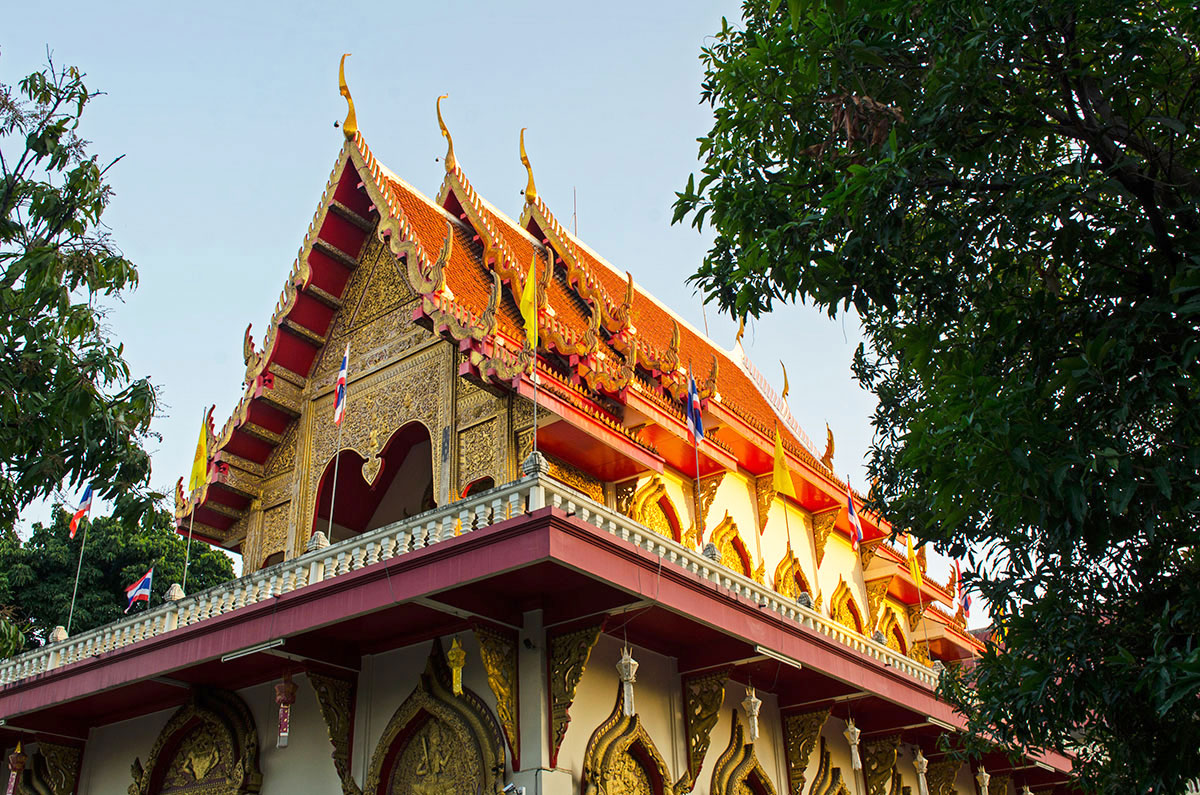 One of the 300 temples in Chiang Mai, Thailand