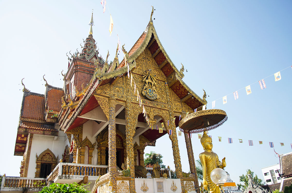 A statue at Wat Buppharam Temple in Chiang Mai