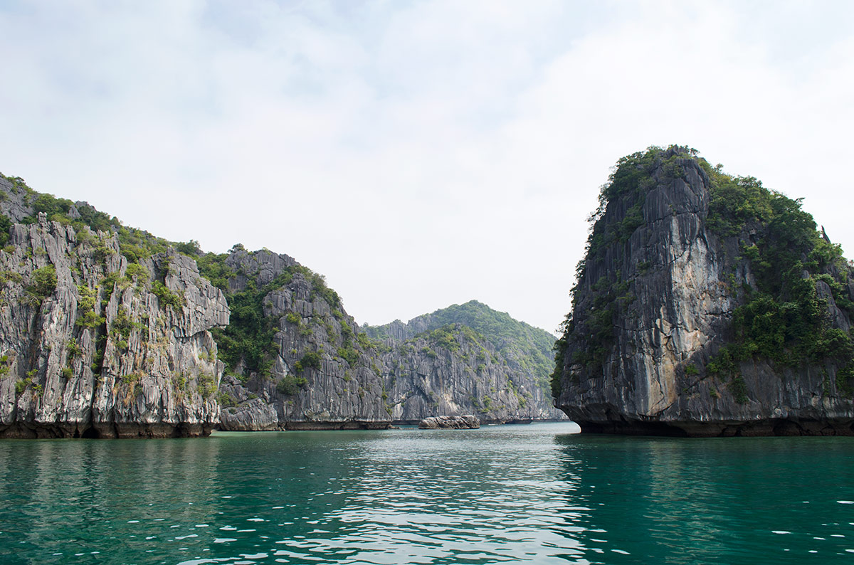 Some of the thousand plus limestone islands in Halong Bay