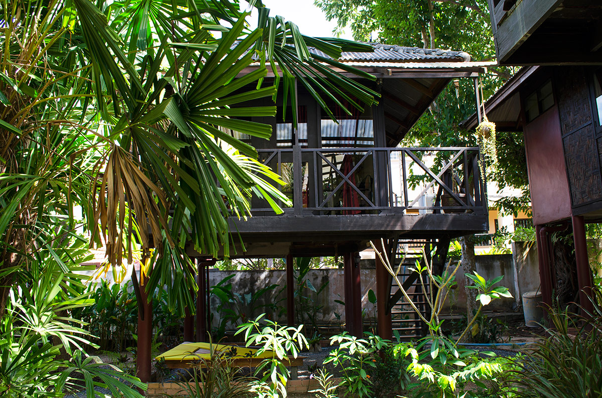 Our raised bungalow at Fruit Tree Lodge in Koh Lanta