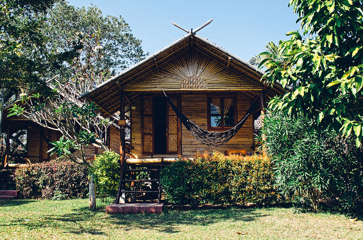 The bungalow we stayed in for a night at Pai Country Hut