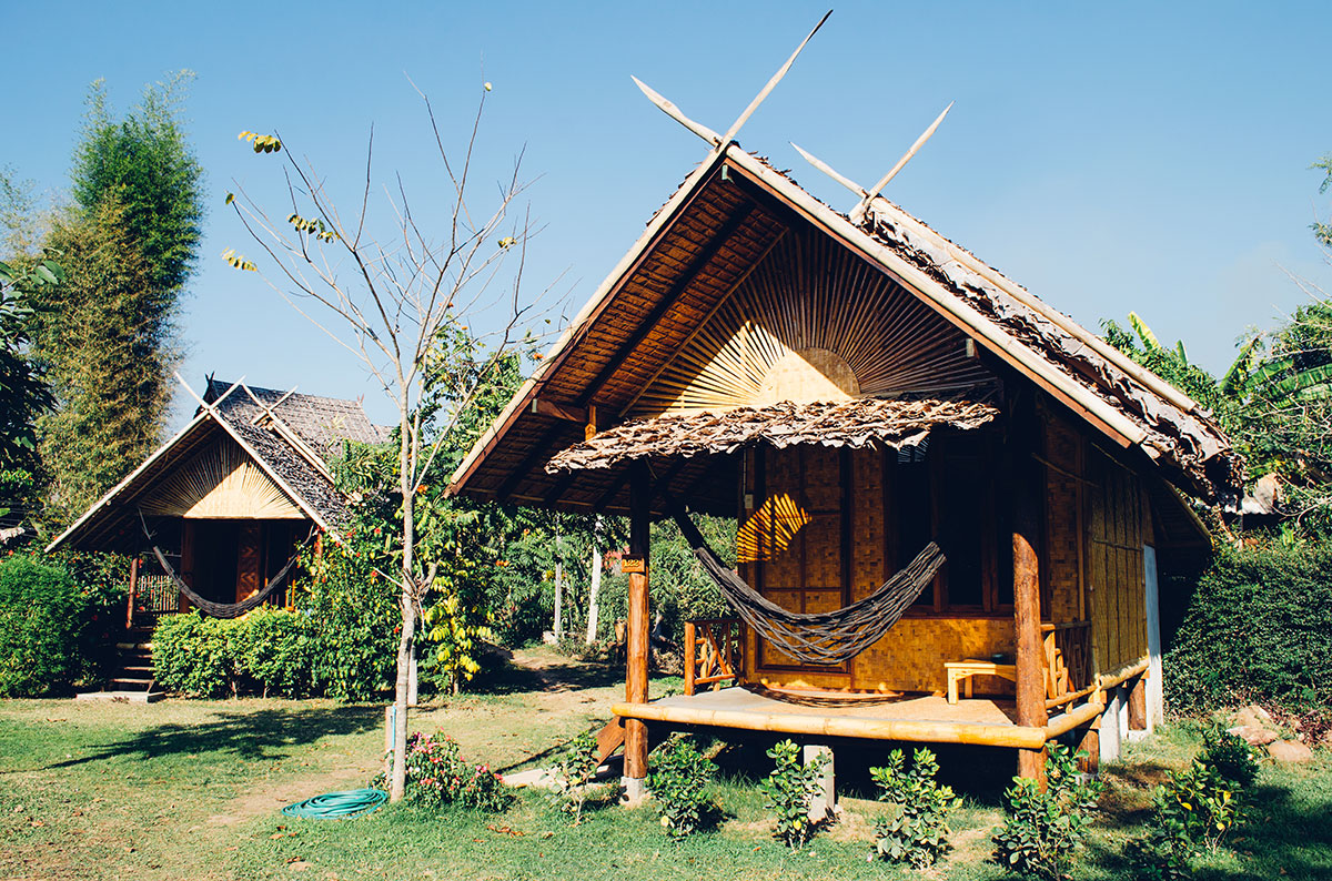 Two bungalows at Pai Country Hut in Pai, Thailand