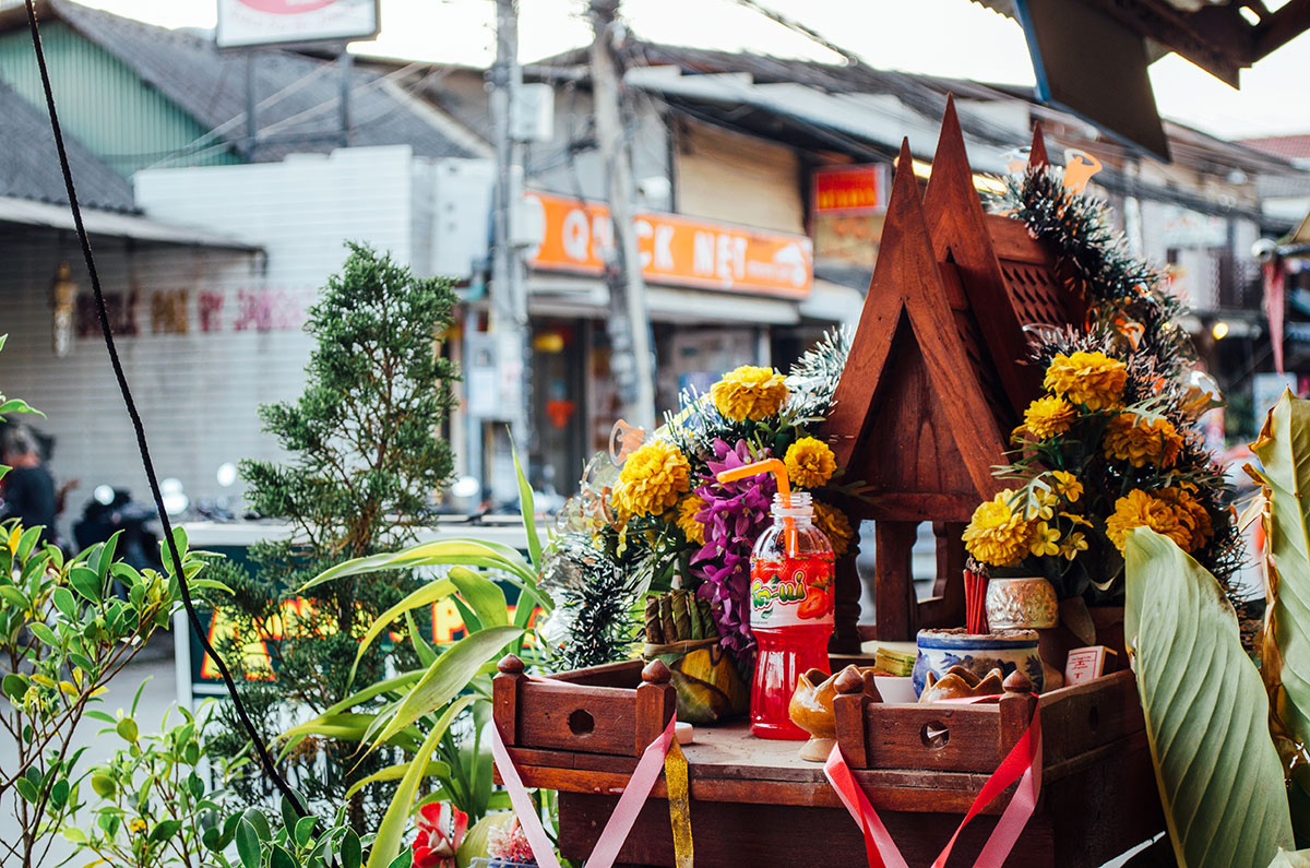 A shrine in downtown Pai